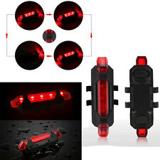 Waterproof USB Rechargeable LED Bicycle Bike Cycling Tail Rear Light Safety Lamp