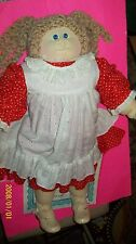 CABBAGE PATCH SOFT SCULPTURE DOLL STANDING EDITION girl AS BLOND hair w/papers