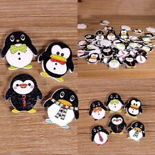 10Stk Multi-Stil Süß Pinguin 2Löcher Holzknöpfe Nähen Basteln Knopf Buttons