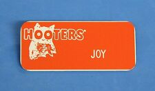 "Hooters Restaurant ""JOY"" Orange Girl Name Tag / Pin -  Waitress Pin"