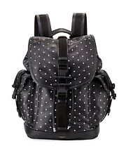 GIVENCHY Backpack Obsedia Black Leather Cross-Print Drawstring