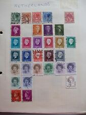 Netherlands 31 ASSORTED USED DEFINITIVE STAMPS **GC MOUNTED**