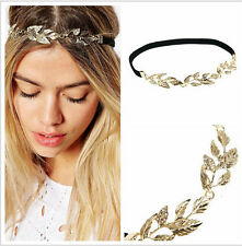 Leaf Headband Forehead Accessories Hair Wedding Flowers Gold/Black 52cm
