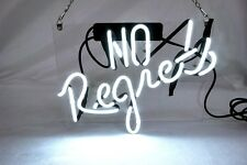 "'No Regrets' Beer Bar Pub Decor Art Real Neon Light Sign 12""x10"""