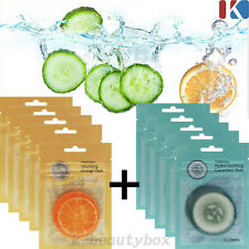 100sheets HYDRO FACIAL MASK SHEETS Vitalizing Orange Pads+Soothing Cucumber Pads