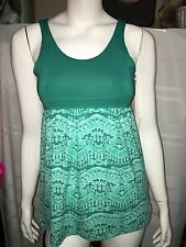 Alpine Tank Top XS Active Athletic Fitness Yoga Sleeveless Top Green NEW NWT