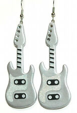 ELECTRIC GUITAR DANGLE EARRINGS ~ 5 COLORS ~ U PICK