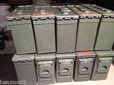 Lot of (10) 30 Caliber 200 Cartridge 7.62MM Ammo Can Empty M19A1