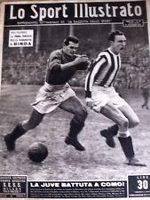 Lo Sport illustrato 46 1950 - Juve battuta a COMO - Biografia BINDA 1°pu  [GS23]