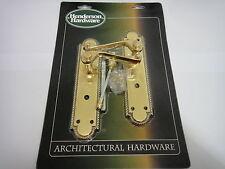 """Henderson hardware """"georgiano Buckingham"""" BAGNO MANIGLIE OTTONE LUCIDO-NUOVO"""