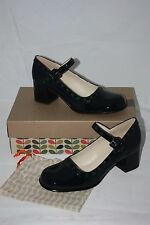 Orla Kiely at Clarks ~ DOROTHY ~ mary jane shoes BNWT black patent  leather UK 7