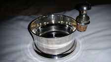 SILVER PLATE WINE BOTTLE HOLDER WITH SILVERPLATE STOPPER