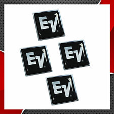 4 DOMED STICKERS DECALS EV ELECTRO VOICE AUDIO SPEAKERS MUSIC MICROPHONES SOUND
