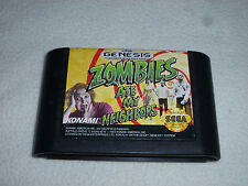 SEGA GENESIS GAME ZOMBIES ATE MY NEIGHBORS CARTRIDGE ONLY CART JVC X EYE NOMAD