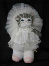 APPLAUSE 1989 DUSTYN SCHEAR STUFFED PLUSH CLOTH KITTY CUCUMBER BRIDE WEDDING