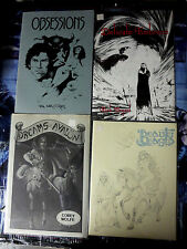 "Schanes & Schanes Lot of 4 11"" x 14"" Art Portolios beautiful B&W comic art print"