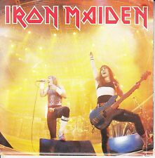 IRON MAIDEN  Running Free PICTURE/POSTER SLEEVE 45 record + juke box strip RARE!