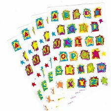 4 Sheets ABC Alphabet Colorful Letter Funky STAR Scrapbook Stickers!