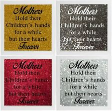 Mothers Hold Their Childrens Hands Decal Frame Wall Vinyl Glass Block