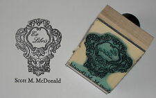Custom Vintage Lion Head Frame Ex Libris bookplate rubber stamp Amazing Arts