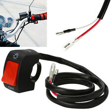 "Black Motorcycle Light Switch For 7/8"" Handlebar With ON/OFF Button Connector"