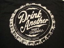 Matt Caldwell Country Music Drink Another Bottle Cap Black T Shirt Size XL