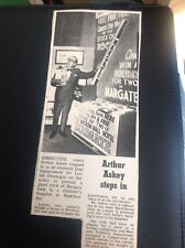 64-5 1971 Ephemera Arthur Askey Stands In For Lonnie Donnegan Margate Hospital