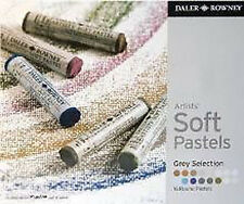 Daler Rowney Soft Chalk Pastel Set - 16 Grey Shades