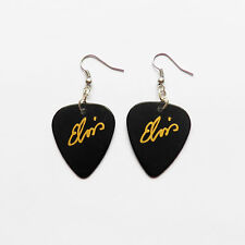 ELVIS PRESLEY guitar pick plectrum Silver Plated EARRINGS
