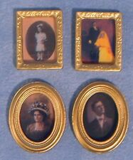 Dolls House Miniature 1/12th Scale Set of 4 Assorted Photo Frames D225