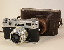 Vintage USSR Photo camera ZORKI 5 based Leica with cover #59076633