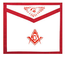 Masonic Master Mason Apron Red Lodge. Freemason Compass Square All Seeing Eye