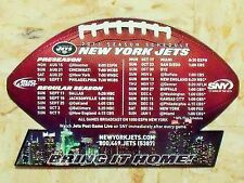 2011 New York Jets NFL Bud Light/SNY football shaped team magnet schedule