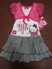 "HELLO KITTY Girls' ""Lets Play""Ruffle Dress sz 4"