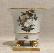 "Herend Rothschild Bird 4"" Claw Foot Urn # # 6403"