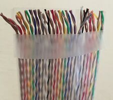 Color Coded Flat Twisted Pair Ribbon Cable 25 conductor Pairs 28ga New