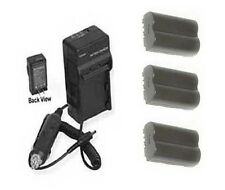 3X Batteries + Charger for Canon BP-508 BP-511 BP-512 BP-514 for EOS D30 D60 20D