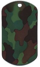 WOODLAND CAMO Stainless Steel Dog Tag ID Dog Tag 8496