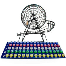 "Professional Bingo Set Wood Board With 19"" Cage, 1.5"" Balls"