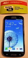 Unlocked Straight Talk Samsung Galaxy S3 BLUE 16GB - 4G LTE Verizon Towers Good