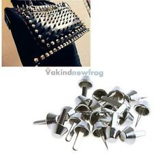 20PCS 10mm Silver Spikes Studs Screw Rivets Spike for Shoes Belt Bag DIY Circle