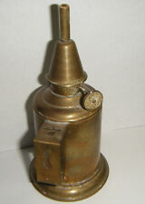 "NICE VINTAGE 6"" SMALL FRENCH BRASS OIL LAMP ABEILLE / BEE"