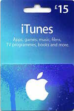 15 GBP Apple iTunes Buono Regalo Codice Certificato Pound UK inglese