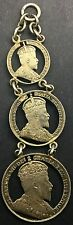 Canada 1904 50 Cents  Cut out Coin Watch fob 3 Pce Intricate Silver Edward VII
