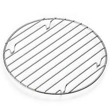 "10"" CHROME ROUND COOLING RACK BAKING OVEN COOKING CAKE MUFFIN PIE FLAN BAKEWARE"