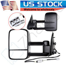 Left+Right 97-03 F150/ 1997-1998 F250 Telescoping Trailer Power Side Tow Mirrors