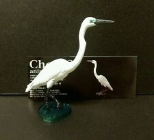 RARE Kaiyodo Choco Q Series 11 Great Egret White Heron Bird Figure