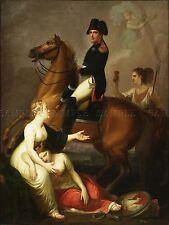 Pintura alegoría Polonia peszka Napoleón Bonaparte impresión arte cartel lf282