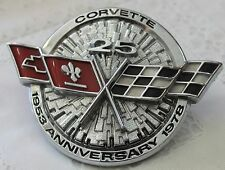 1978 Chevrolet CORVETTE 25th ANNIVERSARY Edition EMBLEM HOOD ORNAMENT
