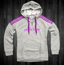 Adidas Damen Kapuzen Pullover Hoodie Sweat Shirt Hoody Sweat Jacke grau 46/48 XL